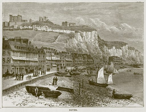 Dover. Illustration for The Sea by F Whymper (Cassell, c 1890).