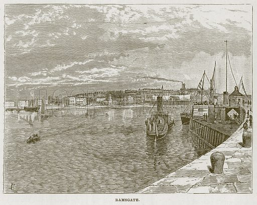 Ramsgate. Illustration for The Sea by F Whymper (Cassell, c 1890).