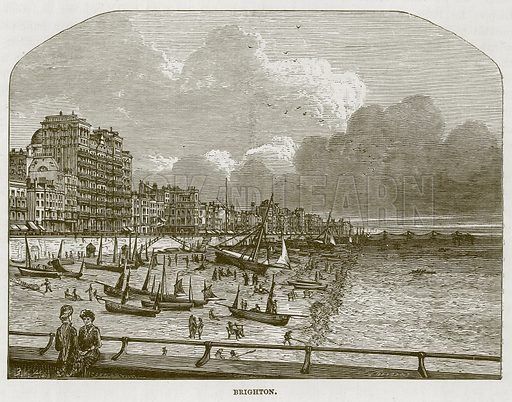 Brighton. Illustration for The Sea by F Whymper (Cassell, c 1890).