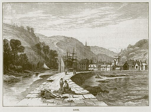 Looe. Illustration for The Sea by F Whymper (Cassell, c 1890).