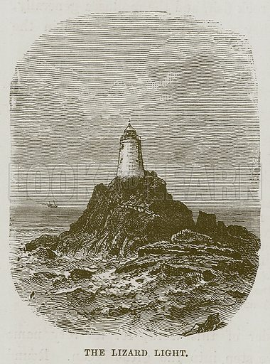 The Lizard Light. Illustration for The Sea by F Whymper (Cassell, c 1890).