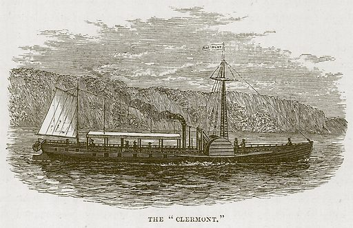 "The ""Clermont."" Illustration for The Sea by F Whymper (Cassell, c 1890)."