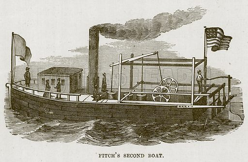 Fitch's Second Boat. Illustration for The Sea by F Whymper (Cassell, c 1890).