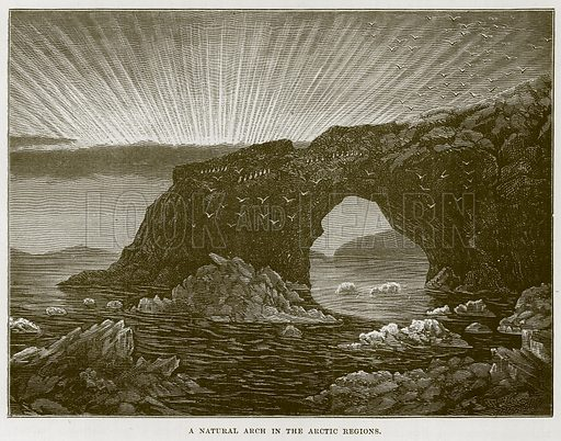 A Natural Arch in the Arctic Regions. Illustration for The Sea by F Whymper (Cassell, c 1890).