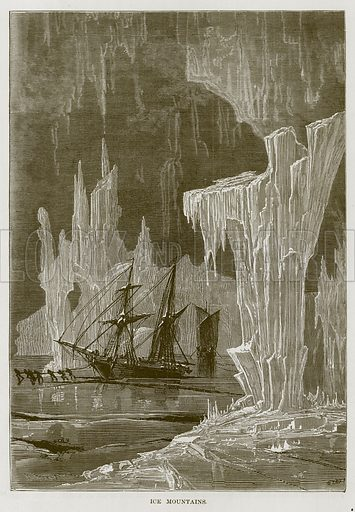 Ice Mountains. Illustration for The Sea by F Whymper (Cassell, c 1890).