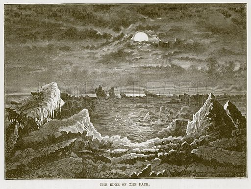 The Edge of the Pack. Illustration for The Sea by F Whymper (Cassell, c 1890).