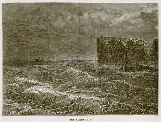 The North Cape. Illustration for The Sea by F Whymper (Cassell, c 1890).