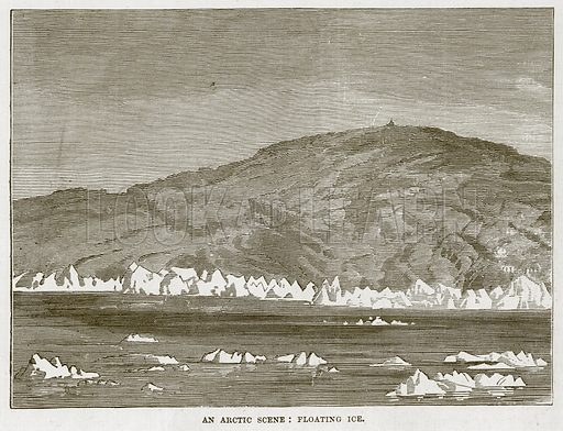An Arctic Scene: Floating Ice. Illustration for The Sea by F Whymper (Cassell, c 1890).