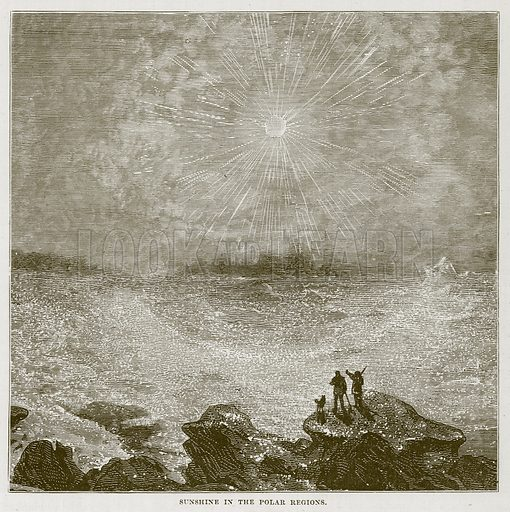 Sunshine in the Polar Regions. Illustration for The Sea by F Whymper (Cassell, c 1890).