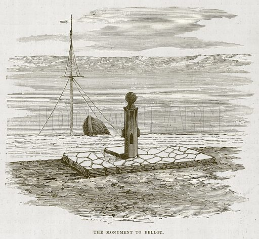 The Monument to Bellot. Illustration for The Sea by F Whymper (Cassell, c 1890).