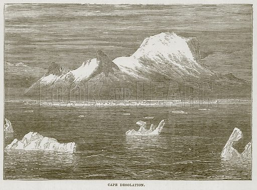 Cape Desolation. Illustration for The Sea by F Whymper (Cassell, c 1890).