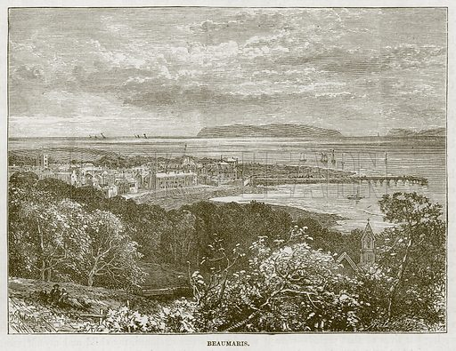 Beaumaris. Illustration for The Sea by F Whymper (Cassell, c 1890).
