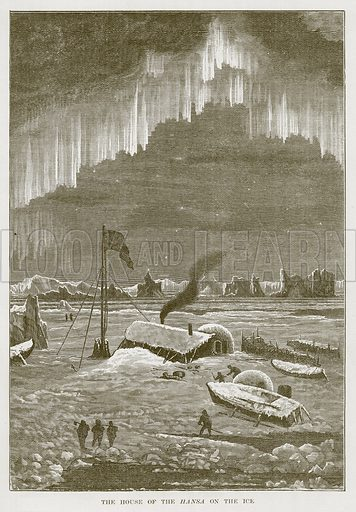 The House of the Hansa on the Ice. Illustration for The Sea by F Whymper (Cassell, c 1890).