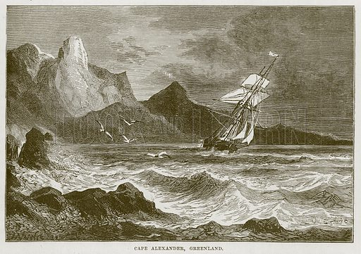 Cape Alexander, Greenland. Illustration for The Sea by F Whymper (Cassell, c 1890).