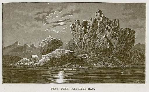 Cape York, Melville Bay. Illustration for The Sea by F Whymper (Cassell, c 1890).
