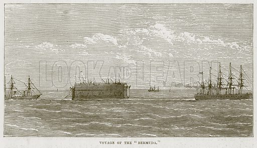 "Voyage of the ""Bermuda."" Illustration for The Sea by F Whymper (Cassell, c 1890)."