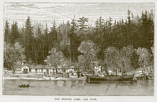 The British Camp: San Juan. Illustration for The Sea by F Whymper (Cassell, c 1890).