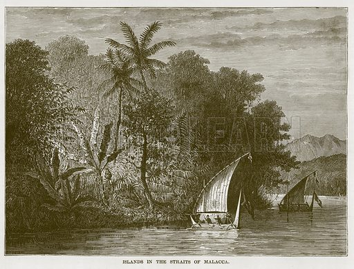 Islands in the Straits of Malacca. Illustration for The Sea by F Whymper (Cassell, c 1890).