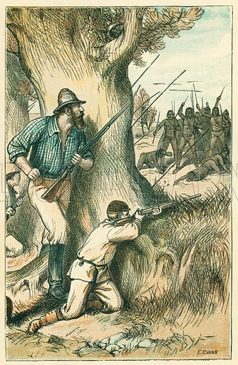 Australian Adventures. Illustration for Australian Adventures by William Kingston (George Routledge, c 1890).