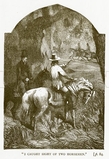 """I Caught Sight of Two Horsemen."" Illustration for Australian Adventures by William Kingston (George Routledge, c 1890)."