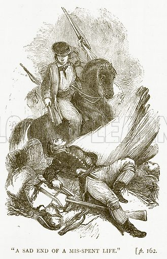 """""""A Sad End of a Mis-Spent Life."""" Illustration for Australian Adventures by William Kingston (George Routledge, c 1890)."""