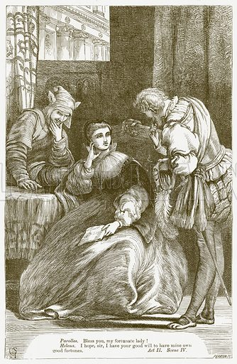 All's Well that Ends Well. Illustration for The Plays of William Shakespeare edited by Charles and Mary Cowden Clarke (Cassell, 1890).