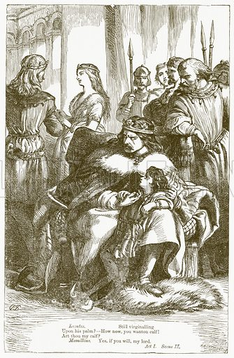 The Winter's Tale. Illustration for The Plays of William Shakespeare edited by Charles and Mary Cowden Clarke (Cassell, 1890).
