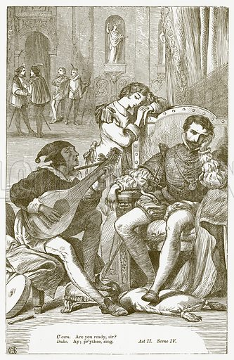 Twelfth Night. Illustration for The Plays of William Shakespeare edited by Charles and Mary Cowden Clarke (Cassell, 1890).