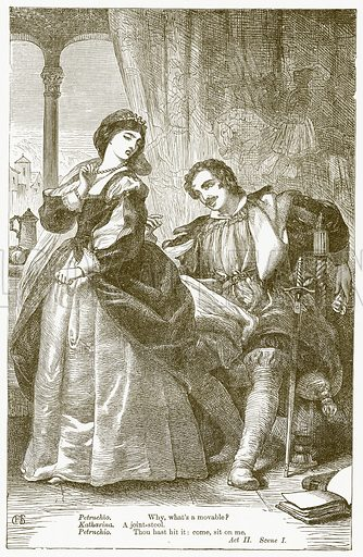 The Taming of the Shrew. Illustration for The Plays of William Shakespeare edited by Charles and Mary Cowden Clarke (Cassell, 1890).