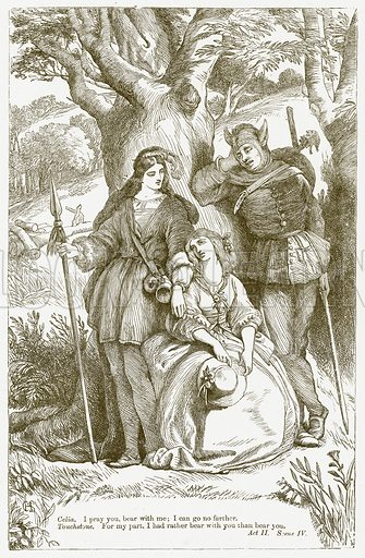 As You Like It. Illustration for The Plays of William Shakespeare edited by Charles and Mary Cowden Clarke (Cassell, 1890).