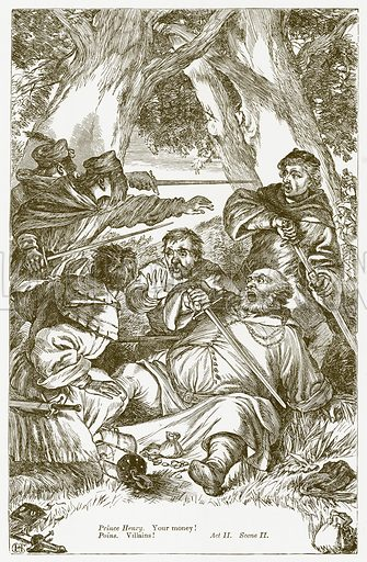 King Henry IV Part I. Illustration for The Plays of William Shakespeare edited by Charles and Mary Cowden Clarke (Cassell, 1890).
