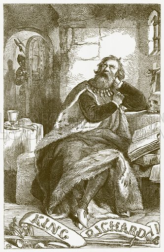 King Richard II. Illustration for The Plays of William Shakespeare edited by Charles and Mary Cowden Clarke (Cassell, 1890).