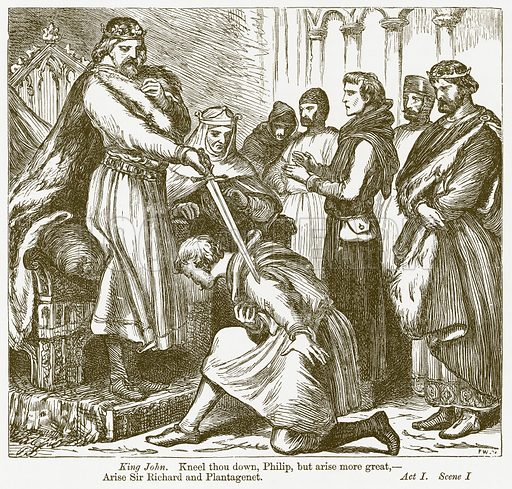 King John. Illustration for The Plays of William Shakespeare edited by Charles and Mary Cowden Clarke (Cassell, 1890).
