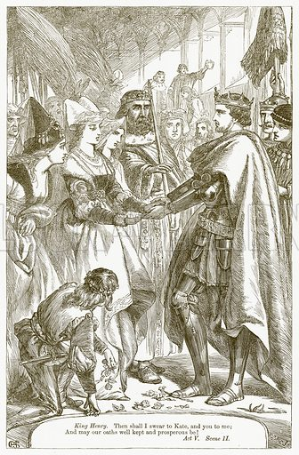 King Henry V. Illustration for The Plays of William Shakespeare edited by Charles and Mary Cowden Clarke (Cassell, 1890).