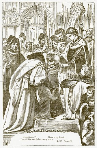 King Henry IV Part II. Illustration for The Plays of William Shakespeare edited by Charles and Mary Cowden Clarke (Cassell, 1890).
