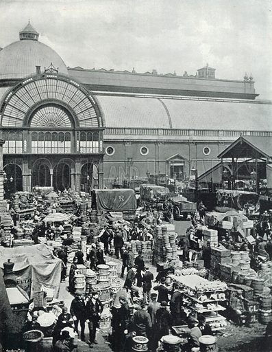 Covent Garden Market, a Morning Scene in the Market