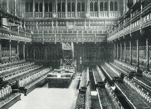 Beautiful The Houses Of Parliament, Interior Of The House Of Commons. Photograph From  Round London