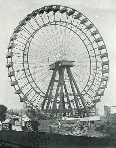 Earl's Court, the Great Wheel. Photograph from Round London (George Newnes, 1896).