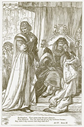 King Richard III. Illustration for The Plays of William Shakespeare edited by Charles and Mary Cowden Clarke (Cassell, c 1890).