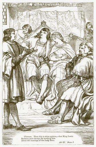 King Henry VI Part III. Illustration for The Plays of William Shakespeare edited by Charles and Mary Cowden Clarke (Cassell, c 1890).