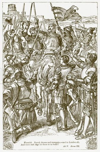 King Henry VI Part II. Illustration for The Plays of William Shakespeare edited by Charles and Mary Cowden Clarke (Cassell, c 1890).