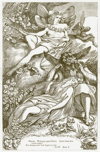 A Midsummer Night's Dream. Illustration for The Plays of William Shakespeare edited by Charles and Mary Cowden Clarke (Cassell, c 1890).
