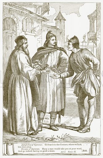 The Comedy of Errors. Illustration for The Plays of William Shakespeare edited by Charles and Mary Cowden Clarke (Cassell, c 1890).
