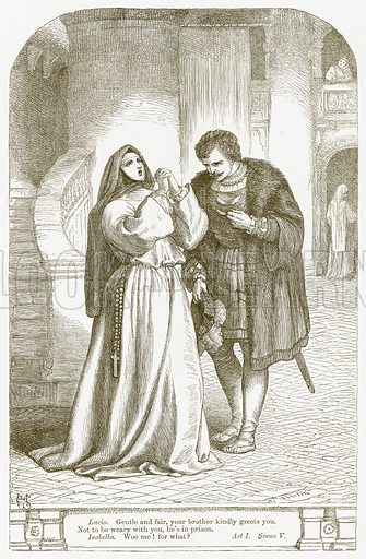 Measure for Measure. Illustration for The Plays of William Shakespeare edited by Charles and Mary Cowden Clarke (Cassell, c 1890).