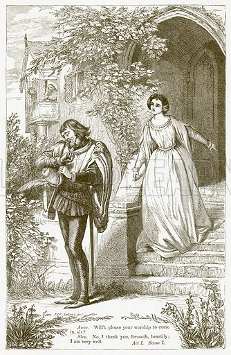 The Merry Wives of Windsor. Illustration for The Plays of William Shakespeare edited by Charles and Mary Cowden Clarke (Cassell, c 1890).