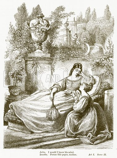 The Two Gentlemen of Verona. Illustration for The Plays of William Shakespeare edited by Charles and Mary Cowden Clarke (Cassell, c 1890).