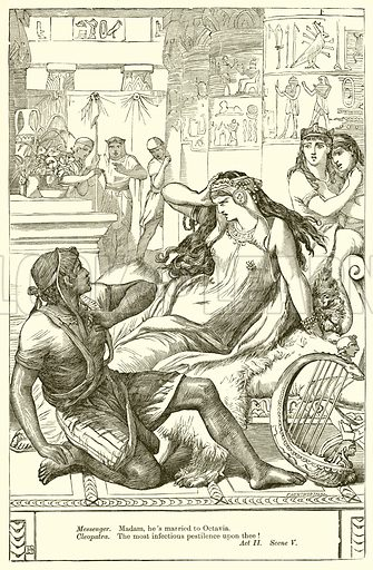 Antony and Cleopatra. Illustration for The Plays of William Shakespeare edited by Charles and Mary Cowden Clarke (Cassell, c 1890).