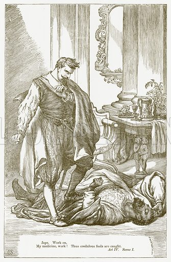 Othello. Illustration for The Plays of William Shakespeare edited by Charles and Mary Cowden Clarke (Cassell, c 1890).