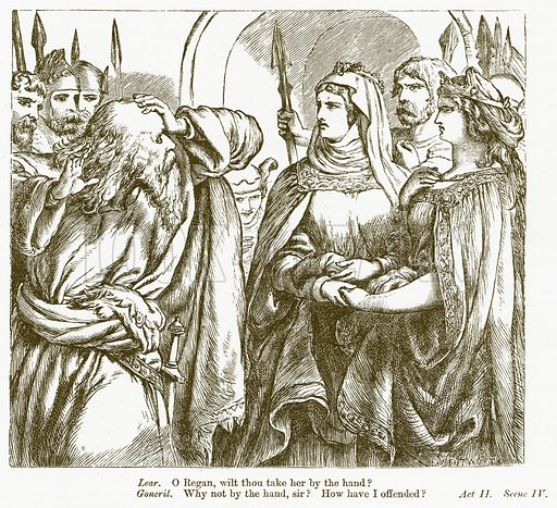 King Lear. Illustration for The Plays of William Shakespeare edited by Charles and Mary Cowden Clarke (Cassell, c 1890).