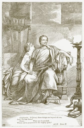 Julius Caesar. Illustration for The Plays of William Shakespeare edited by Charles and Mary Cowden Clarke (Cassell, c 1890).